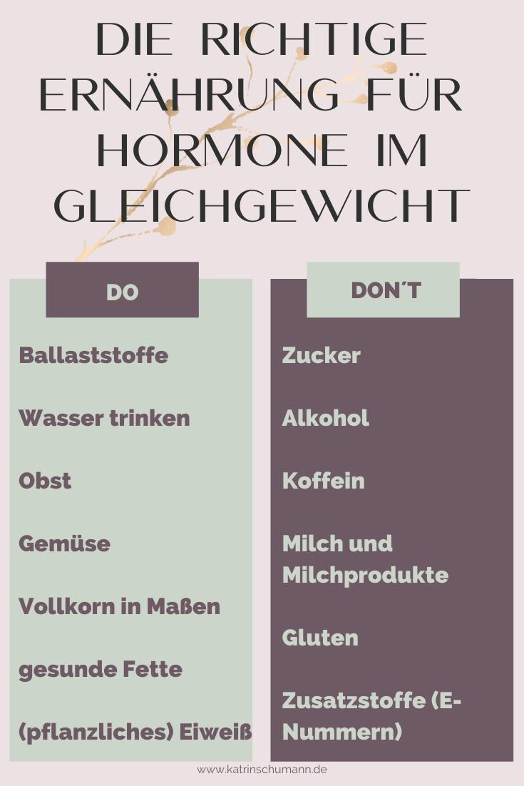 Hormone Ernährung Balance Gleichgewicht